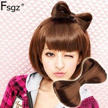 Hair barrettes for women fashion large size Nylon wig bowknot hairpins Top hair clips girls ornaments headdress accessories