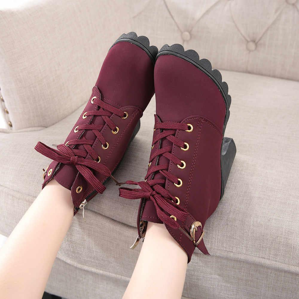 SAGACE Ayakkabıları Kadın Moda Yüksek Topuk ayak bileği bağcığı Botları Bayanlar Toka platform ayakkabılar Kadın