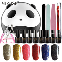 MIZHSE Nail Art Pro DIY Full Set Gelpolish Base And Top UV Gel Nail Polish Dryer 36W USB Plug Lamp Hybrid Lacquers Nail Kits