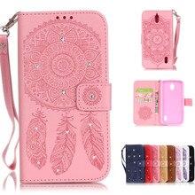Bling Бумажник Флип кожаный чехол для Huawei Ascend y625 P9 Lite мини телефон Сумки со стразами Ловец снов крышка Чехол