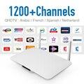 Android Smart Tv Set Top Box Быстрый ПРОЦЕССОР IPTV Коробка С европа Арабский Счет IPTV Арабский Французский Sport 1200 + Каналы HD Media коробка