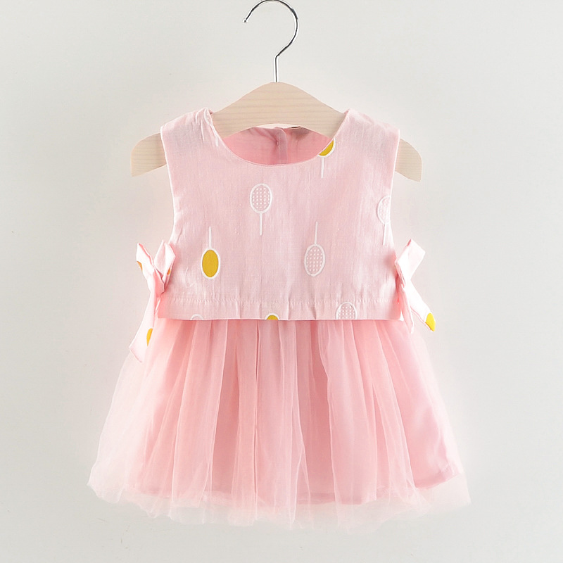 1-6Y Baby Girls Dress Summer Princess Dress White Birthday Dress A- Line Skirts Cute Kids Girl Clothing One-piece Dress Girl