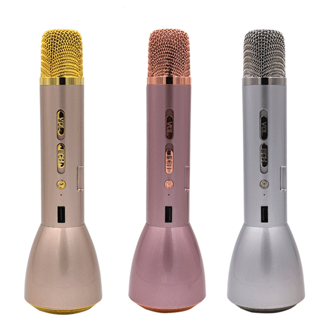 Portable Micropone Wireless Karaoke Microphone Handheld Microphone With Bluetooth Speaker Power Bank Outdoor KTV 2-in-1 Function