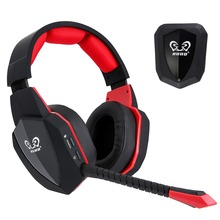 HUHD 2.4Ghz Optical Wi-fi Gaming Headset HW-398S for XBox 360, PS4/Three, PC,XBox One Noise Cancelling, Improved New Microphone
