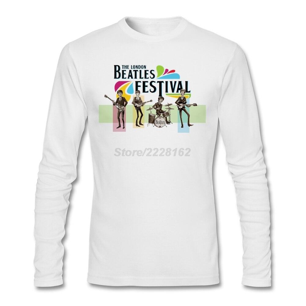Shirt design london - Unique Design T Shirt With Teenage Band The London Beatles Festival Short Big Size Mens Tees