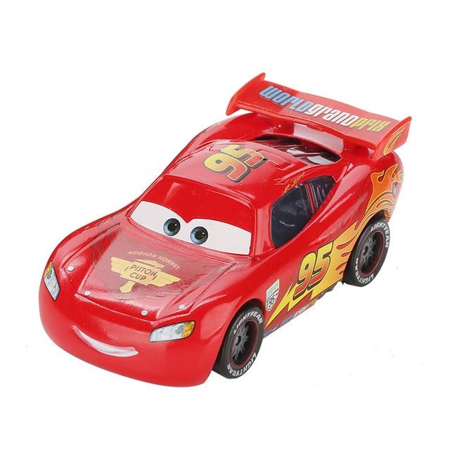 Дисней Pixar Тачки 2 3 игрушки Молния Маккуин Джексон шторм мак грузовик 1:55 литая под давлением модель автомобиля для детей рождественские подарки - Цвет: macqueen 2.0