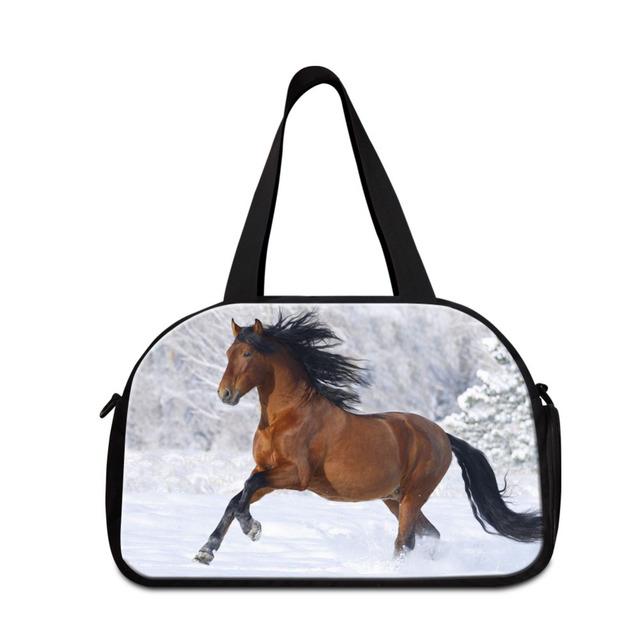 Dispalang impressão cavalo homens bagagem sacos de viagem de grande capacidade sacos de ombro das mulheres tote ocasional bolsa de viagem mochila de viagem