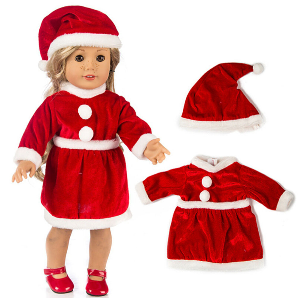 2018 New Hot Chirstmas Clothes Dress Hat For 18 Inch American Boy Doll Accessory Girl Toy  the United States girls doll clothing