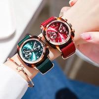 2018 Sport Women Watches Waterproof Rose Gold Luxury Brand Female Clock Nylon Casual Quartz Date Ladies Watch relogio feminino