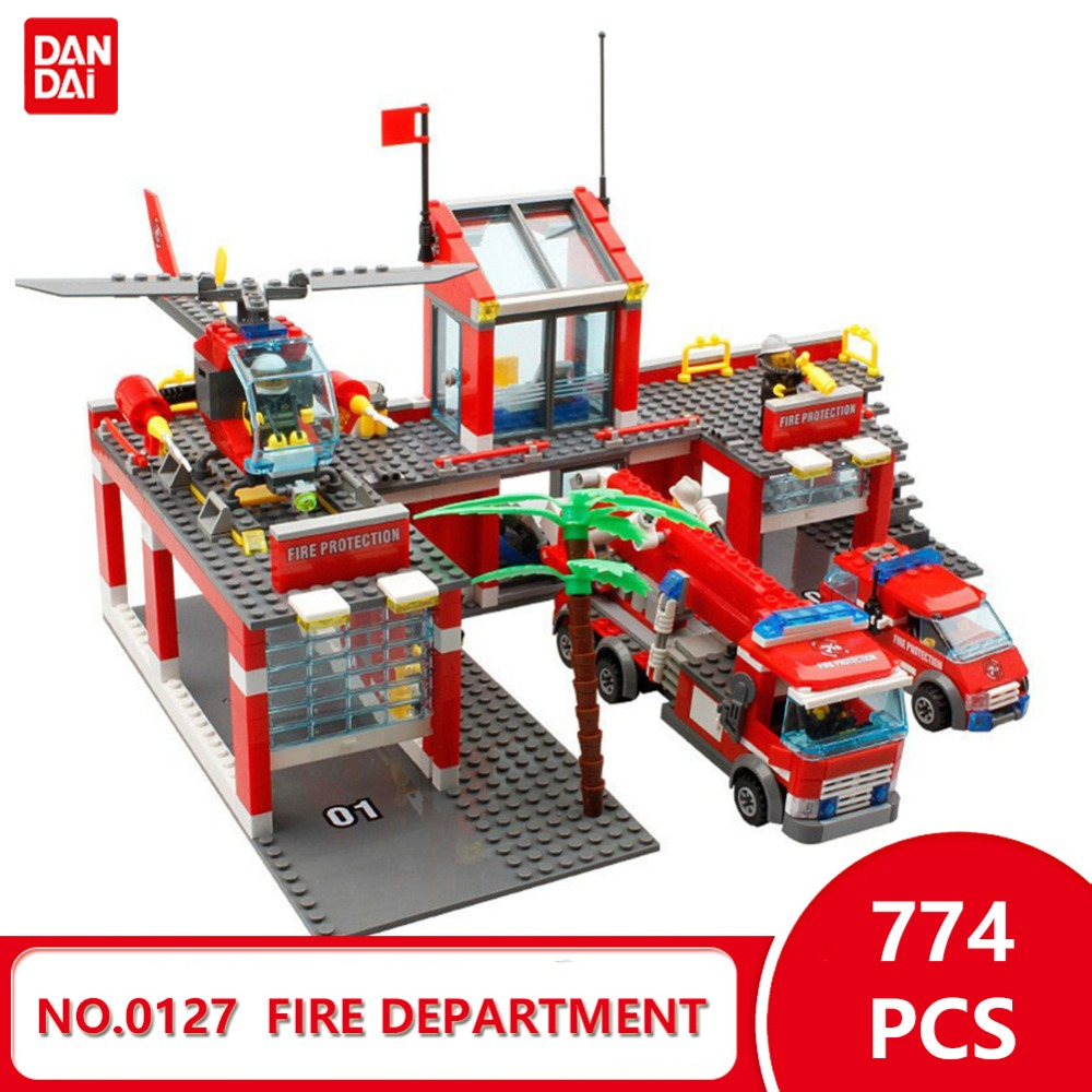 2018 New City Fit Fire Departant Model 0127 Bricks Building Blocks DIY Toys Compatible With Legoingly Blocks Gift for girl GK30