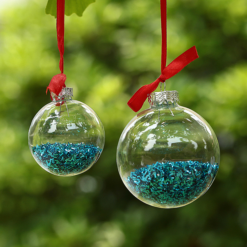 Decorating Christmas Balls Glass Enchanting Dia6Cm Clear Glass Balls Christmas Ornaments Decoration With 2018