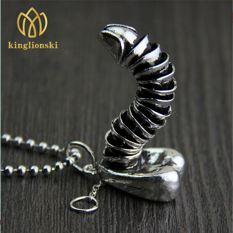 Sterling Silver Jewelry Funny Male Genitalia Pendant Male Penis Can Pull Erection -2511
