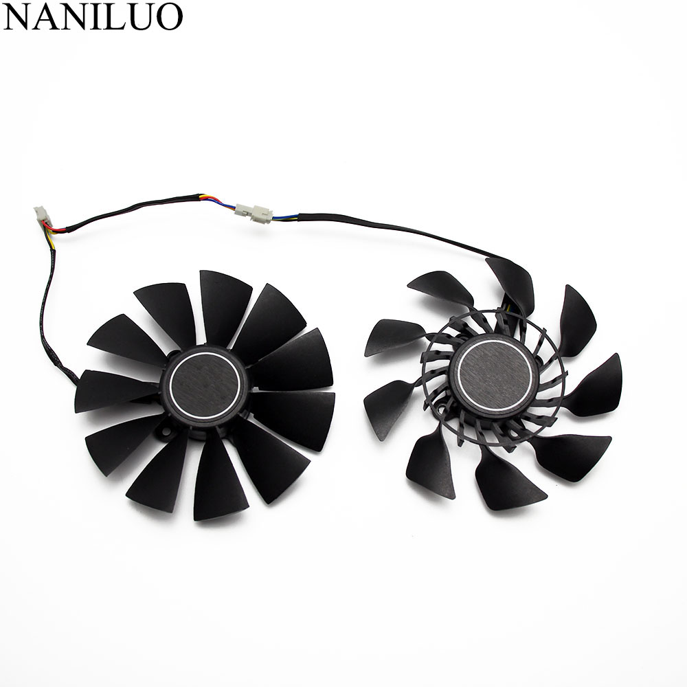 2PCS/lot T129215SU 0 5A Cooler Fan Replace For ASUS R9 280X