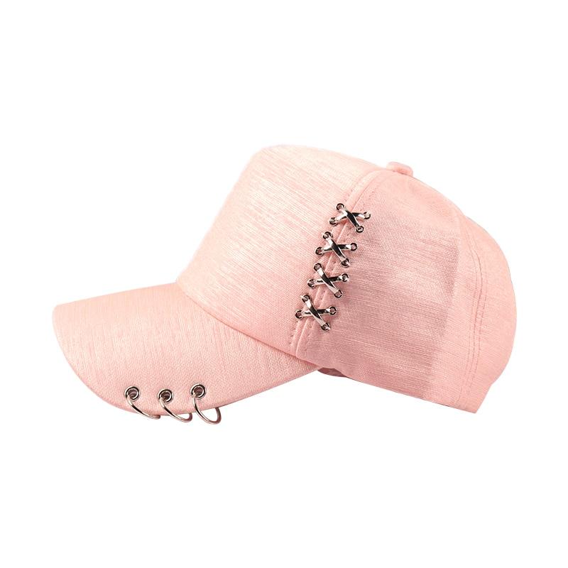 c87146551 Women Sun Hat Baseball Cap White Pink Summer Outdoor Sunscreen Caps Couple  Men Iron Ring Hats Snapback Hats