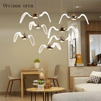 Nordic creative gulls chandelier living room restaurant bar corridor modern minimalist LED bird Chandelier free shipping