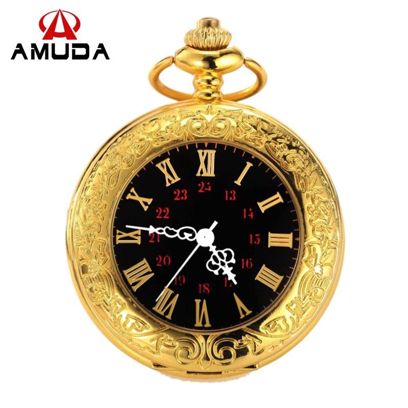 Selbst Winding Mechanische Uhr Kette Luxus Schild Fall Skeleton Anhänger Automatische Taschenuhr Männer Frauen Römische Ziffer Taschenuhr Tasche & Fob Uhren