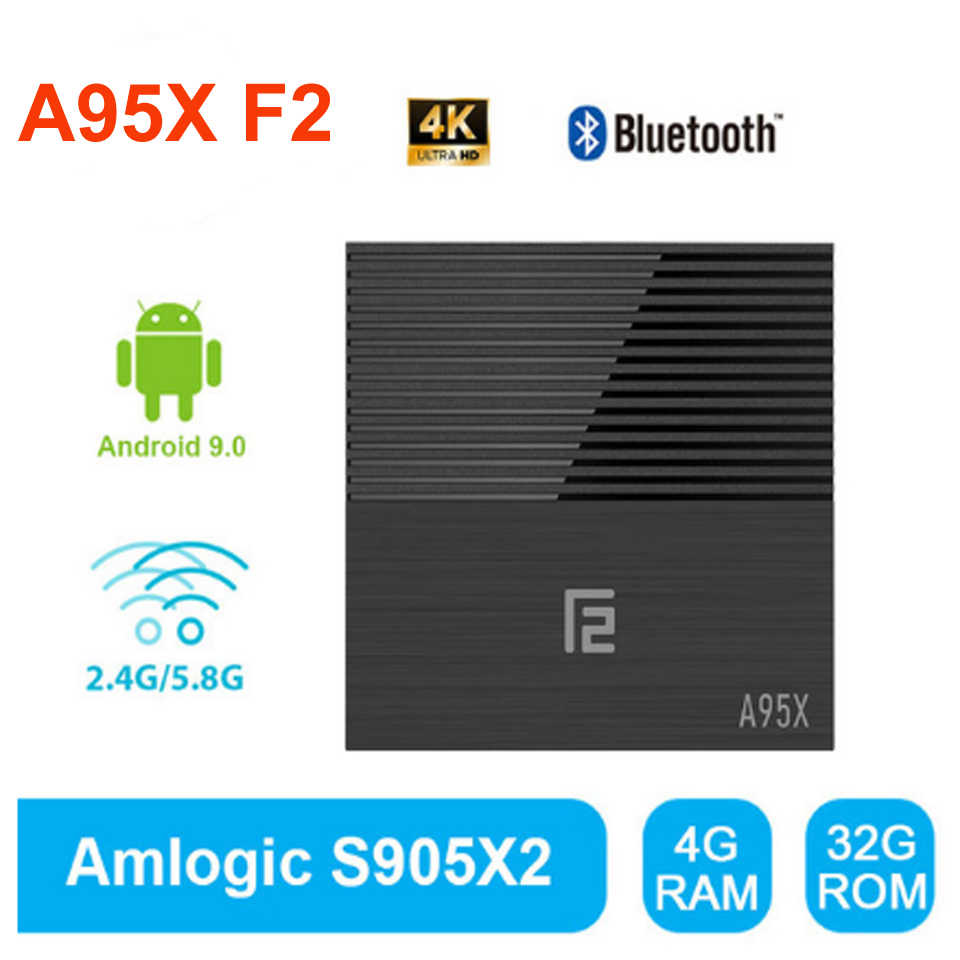 Android ТВ коробка A95X F2 Android 9,0 смарт-медиа-плеер 4 K Поддержка 2,4G & 5G Dual Band WI-FI RJ45 ЛВС USB HDMI оптический Смарт ТВ коробка