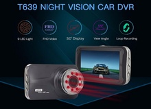 WIIYII HD Dash Cam IR Light Night Vision Hidden 24-hour Car Camera FHD 1080P G-Sensor Car DVR T639 For Monitoring Reversing 5 wiiyii hd 4 inch dash camera fhd 1080p g sensor wide view angle 170 degrees car dvr monitoring dash cam 5
