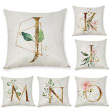 New arrival Coreless Pillowcase Letter Pillow  45x45cm Room English Alphabet For Home goods 1PC Flower Pillowcase