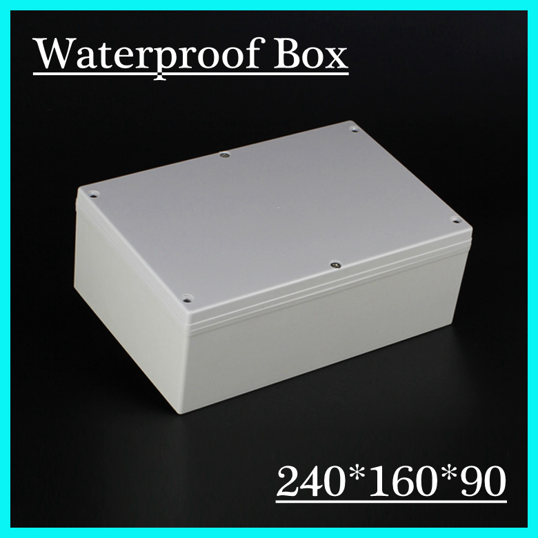 Best Price ABS Waterproof Junction Box 240*160*90mm Connection Waterproof Enclosure Case Plastic Case white abs plastic waterproof dust proof junction box 36mm open hole diy electrical connection outdoor monitor distribution box