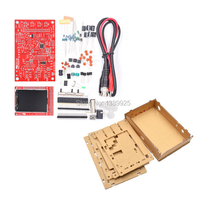 DSO138 DIY Digital Oscilloscope Kit SMD Soldered 13803K Version With Transparent Acrylic HousingDSO138 DIY Digital Oscilloscope Kit SMD Soldered 13803K Version With Transparent Acrylic Housing