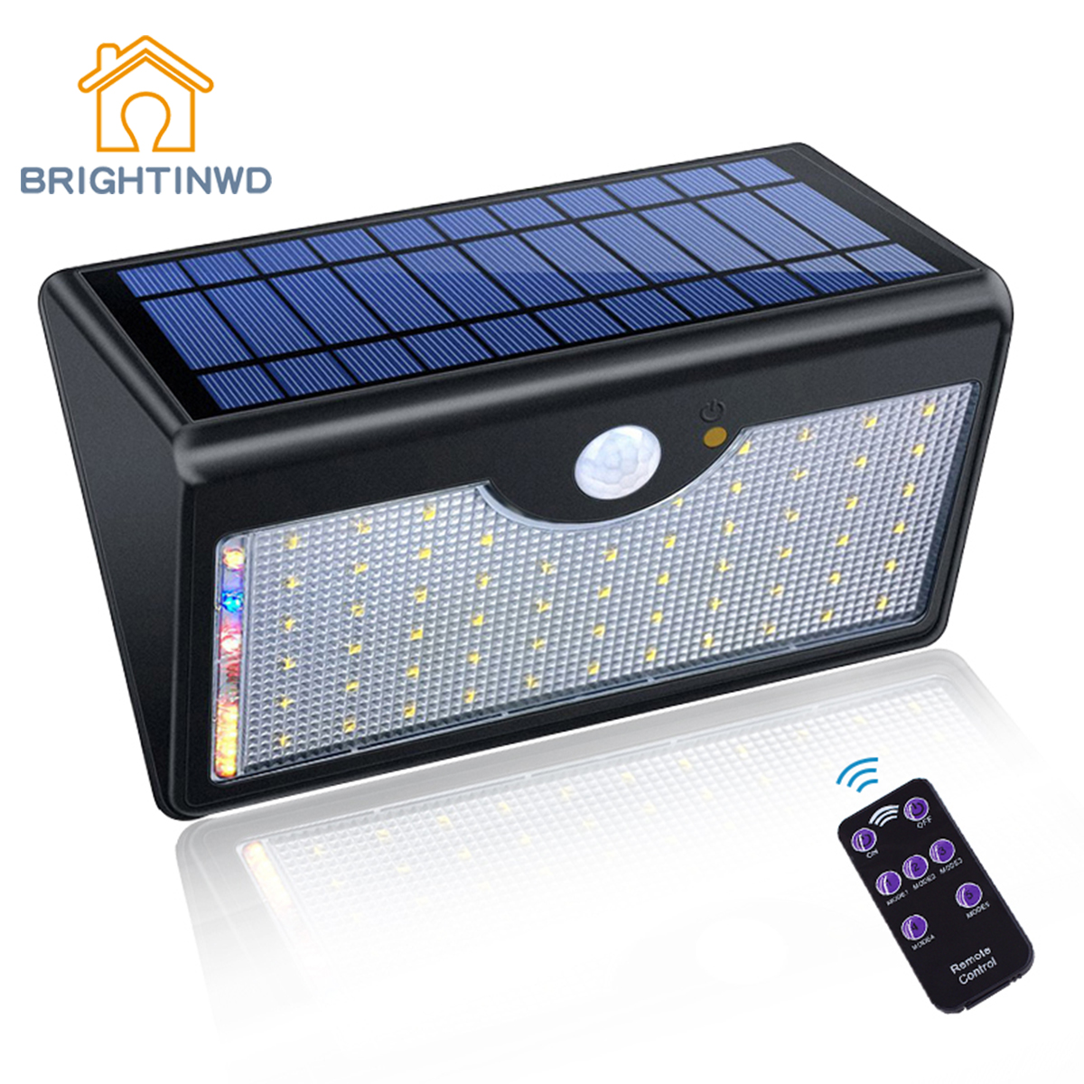 1300lm Super Bright Upgraded Lamp Lights For Outdoor Wall Yard Garden With Five Modes In One <font><b>Solar</b></font> Lamps <font><b>60</b></font> <font><b>LED</b></font> <font><b>Solar</b></font> Light image