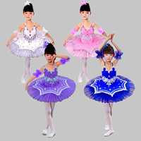 New Children Ballet Tutu Dress Girls Swan Lake Dance Costume Figure Skating Dress Professional Platter Tutu