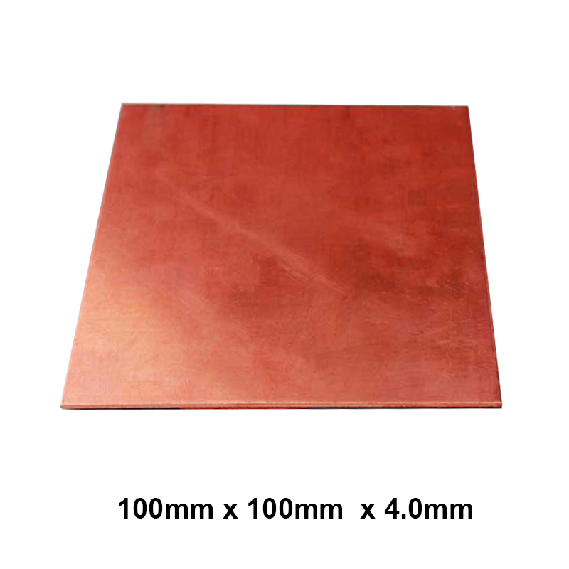 Premium 100x100x4.0mm DIY Copper Shim Heatsink thermal Pad for Laptop GPU CPU VGA Chip RAM  and LED Copper Heat sink 10pcs lot ultra small gvoove pure copper pure for ram memory ic chip heat sink 7 7 4mm electronic radiator 3m468mp thermal