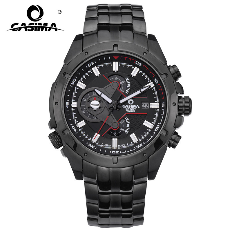 Fashionable han edition men s watch luminous CASIMA movement waterproof stainless steel