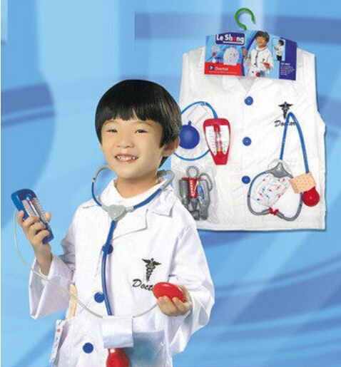 girl boy halloween costumes doctor role playing birthday cosplay stage wear clothing children kid halloween - Kids Doctor Halloween Costume
