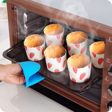 2Pcs Heat Resistant Silicone Insulation Gloves Non Stick Anti-slip Pot Bowl Holder Clip Cooking Baking Oven Mitts Random Color