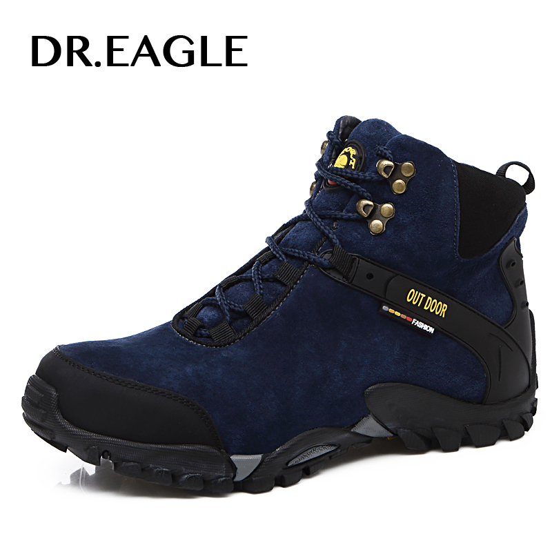 DR.EAGLE Autumn/Winter hiking shoes men waterproof sneakers warm breathable hiking mountain climbing trekking shoe outdoor boots 2016 autumn winter hiking shoes men mountain climbing boots big size 11 12 13 outdoor shoes men military shoe waterproof sneaker