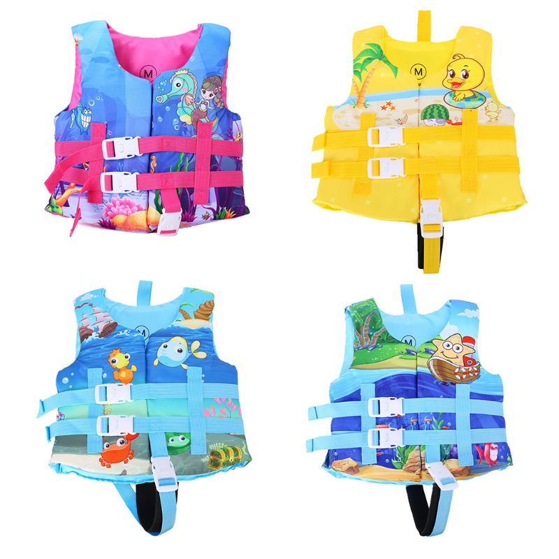 Infant Kid Baby Swim Vest Cute Cartoon Starfish Surfing Life Jacket Buoyancy Suit Rafting Adjustable Foam Swimwear 2-6T 30-50lbs