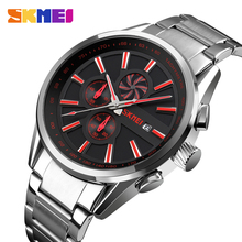 SKMEI Men Watch Top Luxury Brand Chronograph Sports Watches Mens Waterproof Stainless Steel Quartz Watch Relogio Masculino 9175 mens watches top luxury brand sports watch skmei countdown stainless steel strap quartz wristwatch men clock relogio masculino