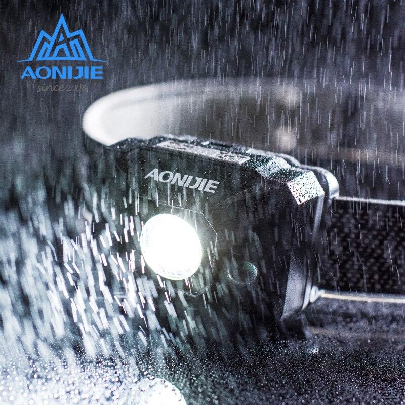 Brand AONIJIE Lightweight battery head lamp highlight waterproof outdoor led night fishing running head light headlamp E4082