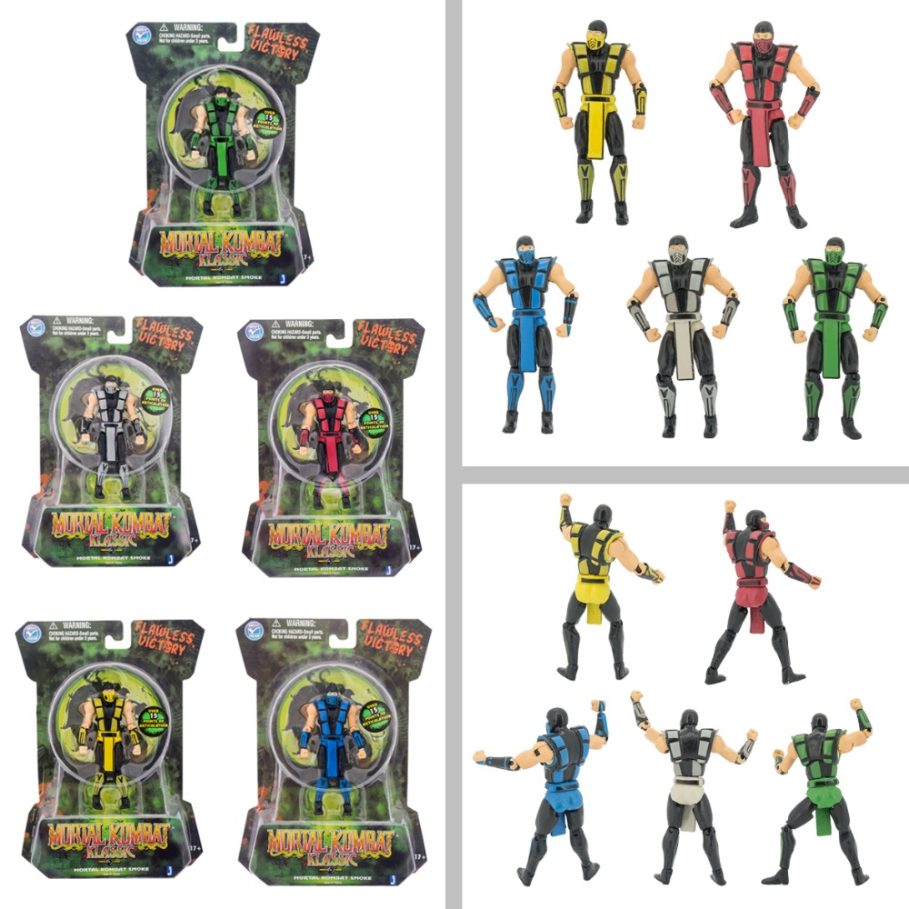 New Mortal Kombat 9 Figure10cm with color boxes Ninja samurai action figure doll model brinquedos kids child birthday gift toys