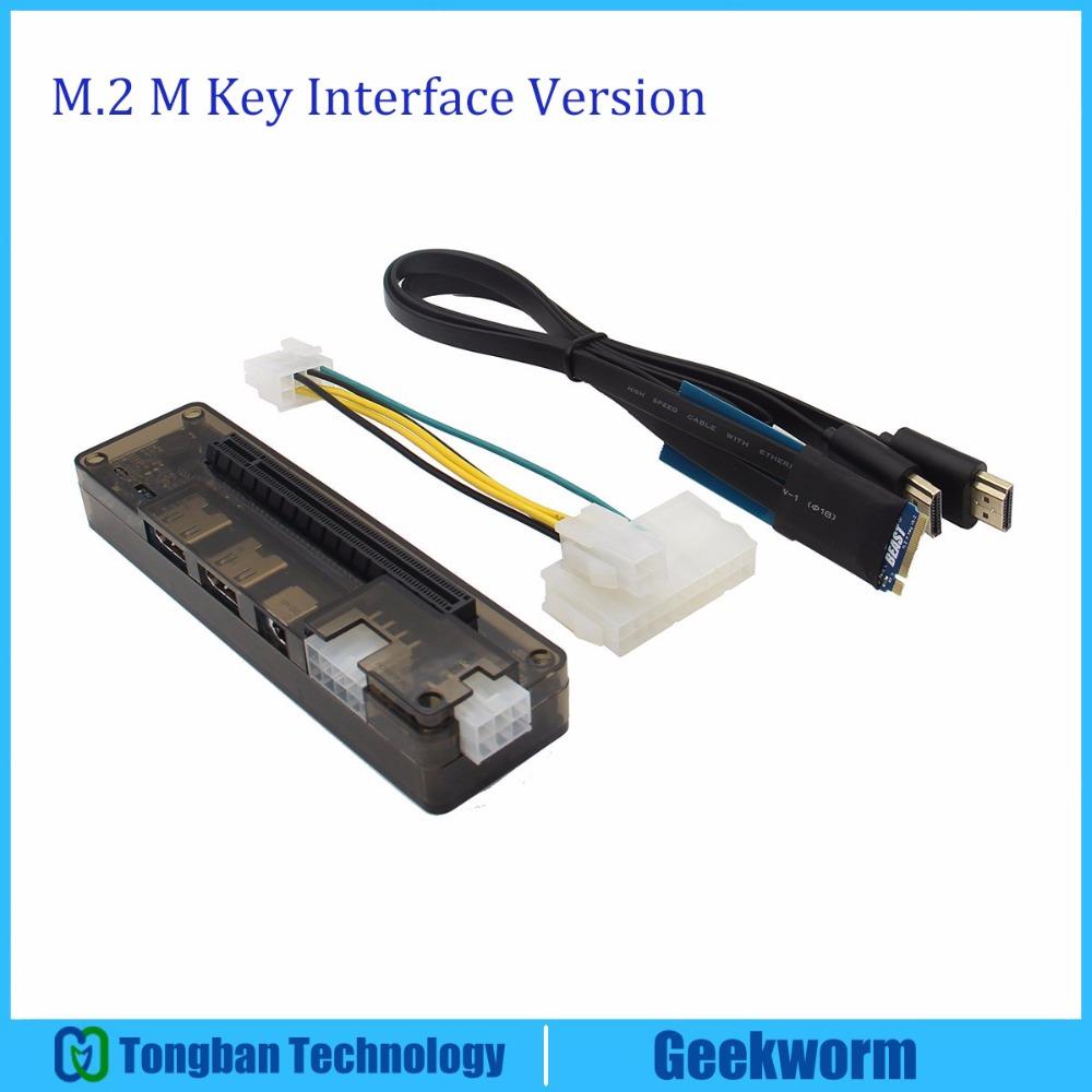 Prix pour EXP GDC PCI-E V9.0 Externe Pour Portable Carte Graphique Indépendante Dock/Station D'accueil Pour Ordinateur Portable (M.2 M clé interface Version)