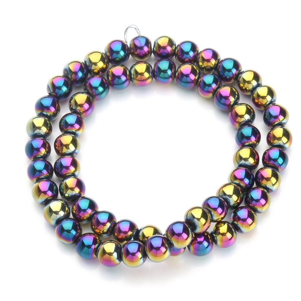 1strand/lot colored Color hematite beads fitting DIY ...  |Hematite Beads