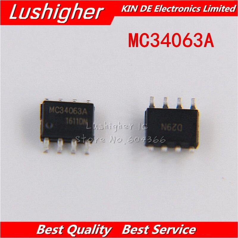 50Pcs IC MC34063 MC34063A REG BUCK BOOST INV 8-DIP NEW