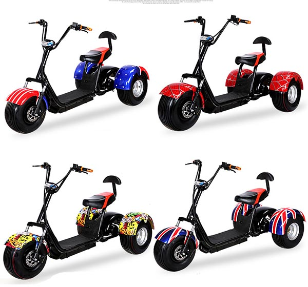 US $1740 0 |3 wheel electric harley scooter with 1000W hub motor and 60V  lithium battery Free TAX-in Self Balance Scooters from Sports &  Entertainment