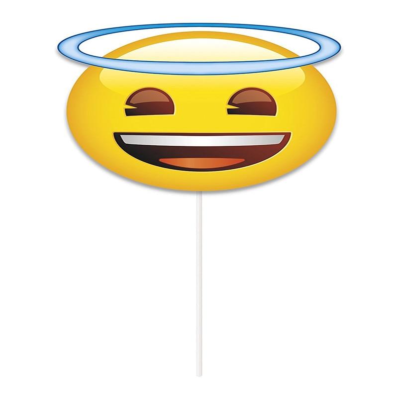 Conosciuto 8 Emoji Photo Booth Puntelli divertente Favore di Partito Kit FAI  FP19
