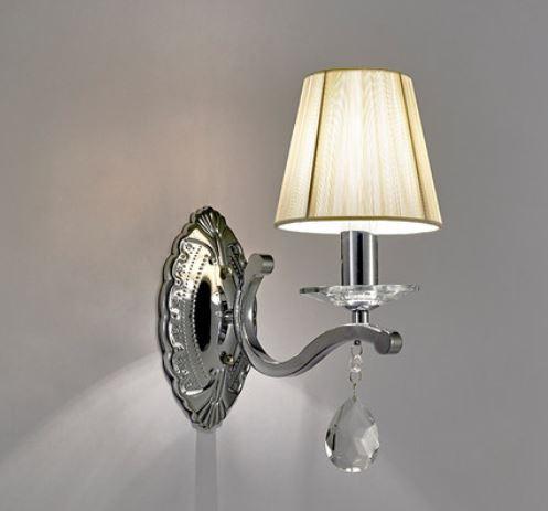 ヨーロッパクリスタルベッドサイドランプ近代的なミニマリスト結晶壁ランプベッドルームのリビングルームの結晶壁ランプ -