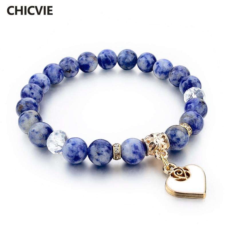 Купить женский браслет с натуральным камнем chicvie этнический в стиле