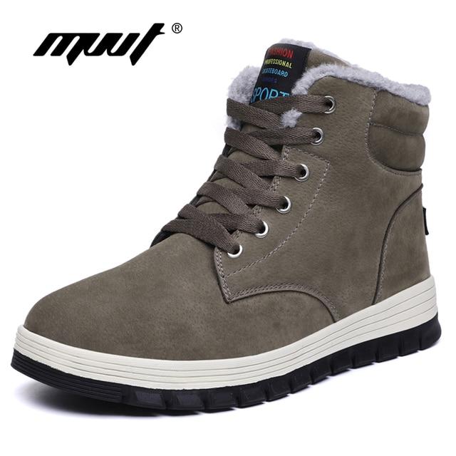 Neue Wildleder Leder Casual Winter Stiefel Männer Super Warm Schnee Stiefel Mit Fell Plattform Schuhe Männer Stiefeletten Mode Stiefel