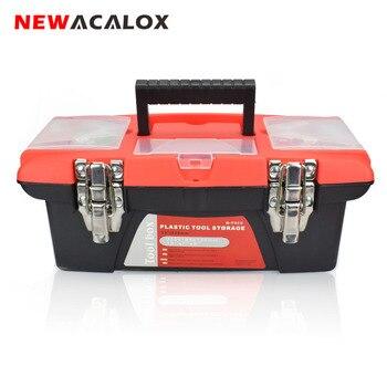 NEWACALOX двухслойный ящик для инструментов портативный многофункциональный инструмент для ремонта бытовой утолщение большое оборудование дл...