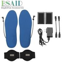 BSAID USB Electric Heated Shoe Insoles, Women Men Foot Warmer Heater, Battery Warm Heating Winter Insole Feet Pads DIY M/L Mat