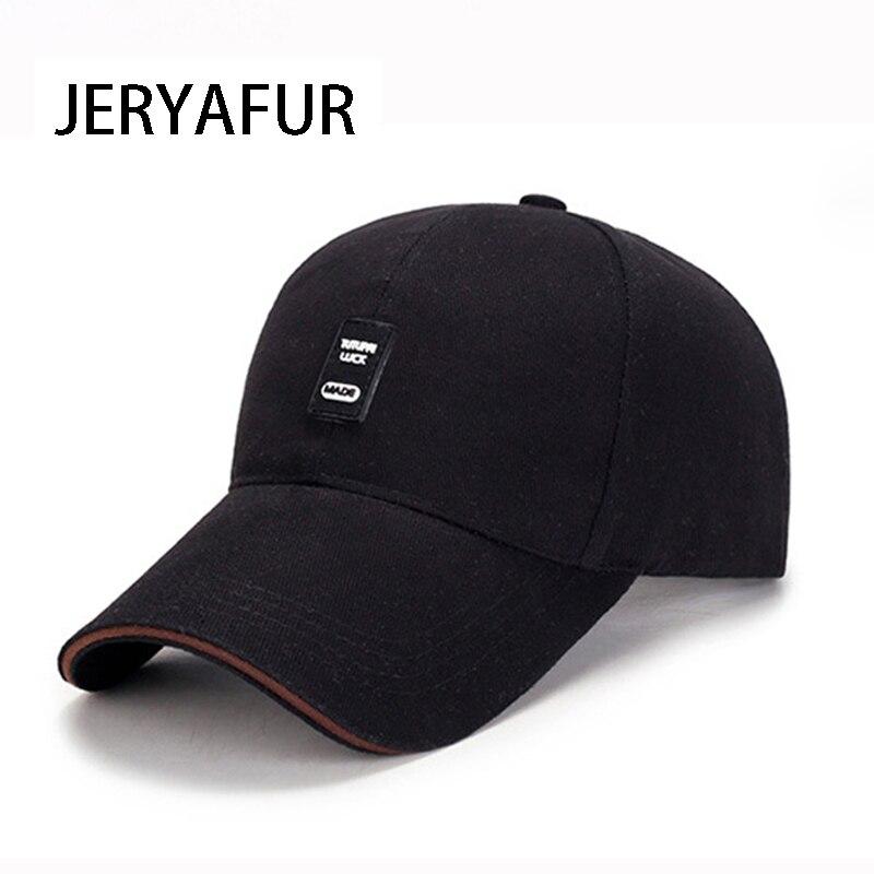2018 JERYAFUR New Cotton Baseball Cap Sports Golf Snapback Outdoor Simple Solid Hats For Men Women Bone Gorras Casquette Chapeu