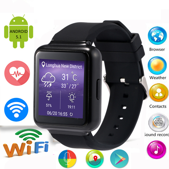 В наличии! Lemfo Q1 smart watch MTK6580 Quad Core 3 Г Android 5.1 OS 512 МБ + 4 ГБ поддержка Wi-Fi Bluetooth SIM карты Smartwatch Телефон