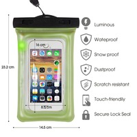 100 Sealed Waterproof Bag Cover Pouch Phone Cases Shock Proof For Samsung All Most Cellphone Bags