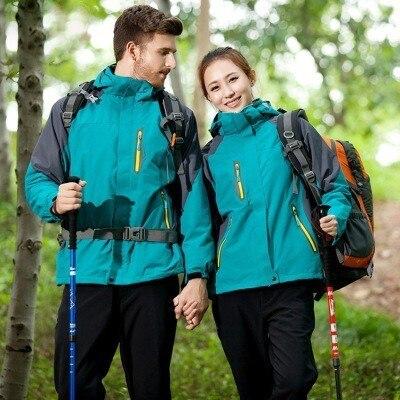 Extérieur hiver hommes randonnée trois en un veste hommes femmes amovible Linner respirant coupe-vent imperméable Camping Ski manteau